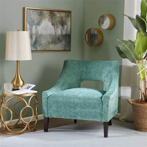 teal and coral living room