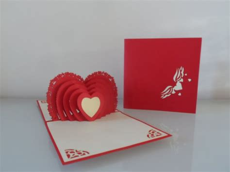 love concertina heart pop up card all nicky pop up cards