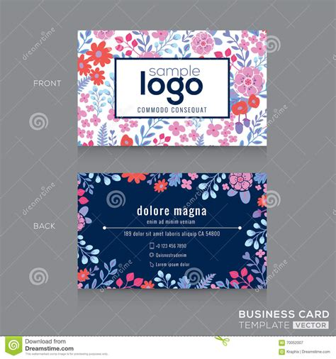pattern name card cute floral pattern business card name card design stock