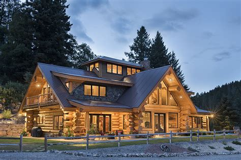 Summit Handcrafted Log Homes - cloudcroft summit log timber homes