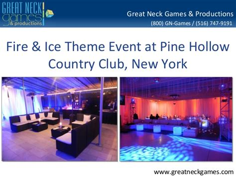 themed club events fire ice theme party planning new york pine hollow country