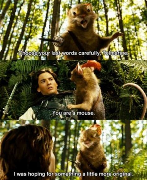 film meme genre que narnia chronicles of narnia reepicheep quotes quotesgram