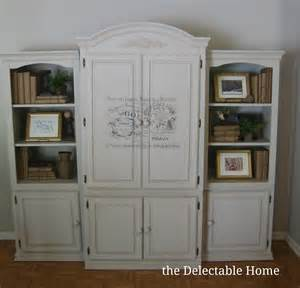 painted armoire the delectable home chalk paint armoire