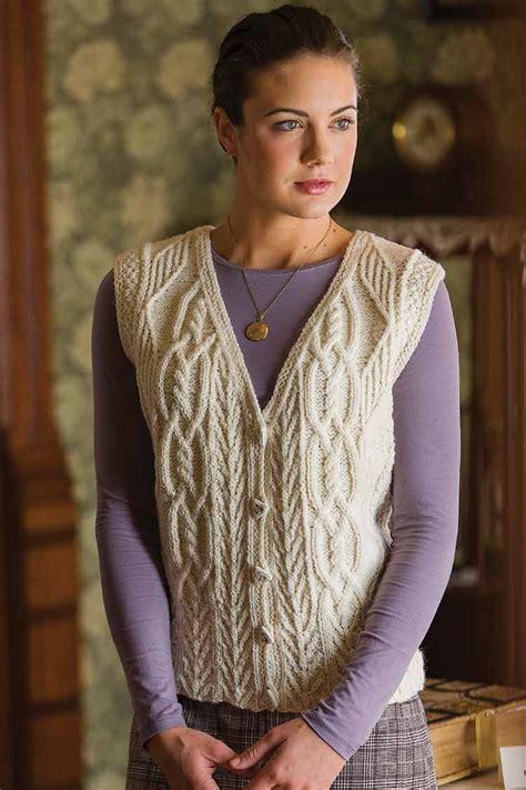knitting patterns jackets cardigans tree of aran vest knitting pattern