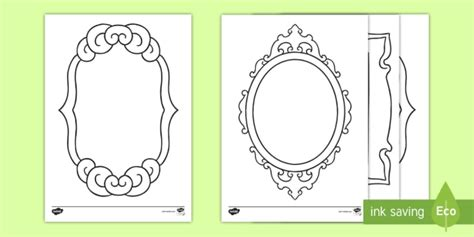 mirror will template new mirror template worksheet colour all about me