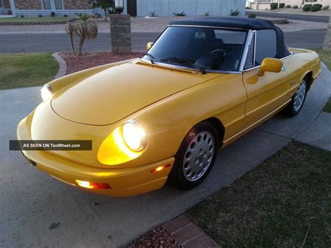 1993 Alfa Romeo Spider by 1993 Alfa Romeo Spider Veloce Convertible 2 Door 2