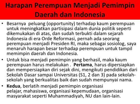 Sejarah Indonesia Dari Proklamasi Sai Orde Reformasi partisipasi politik perempuan
