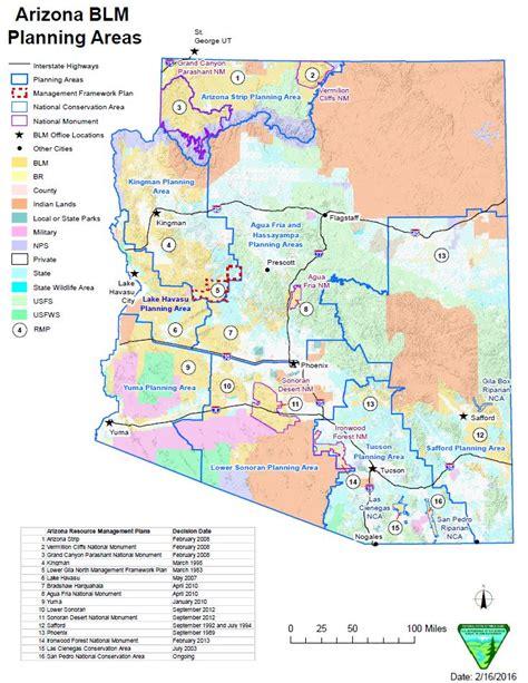arizona blm land map arizona bureau of land management