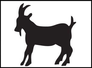 printable goat stencils