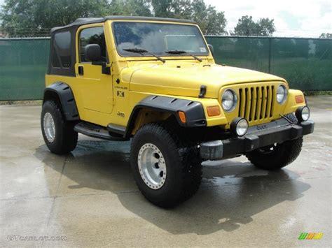 Jeep Yellow 2004 Solar Yellow Jeep Wrangler X 4x4 35054806 Gtcarlot