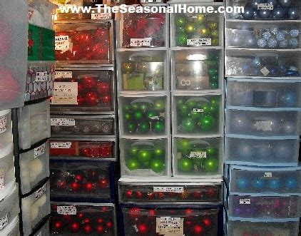 storage for decorations as orn balls the seasonal home