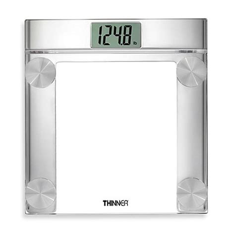 bed bath beyond bathroom scale conair 174 thinner 174 digital precision chrome and glass