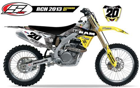 Rch Suzuki Graphics Stellar Mx 2013 Rch Outdoor Team Graphic Kit Suzuki