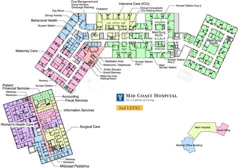 hospital floor plan mid coast hospital find us floor plans level 2