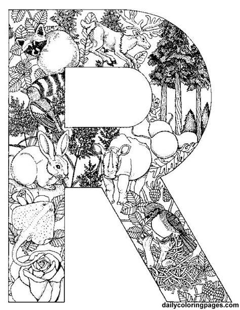 coloring pages for adults letters r letter filled with r words http dailycoloringpages com