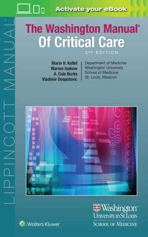 Manual Of Critical Care Nursing Nursing Interventions And Collaborati cartea the washington manual of critical care marin kollef md 183 9781496328519 books express