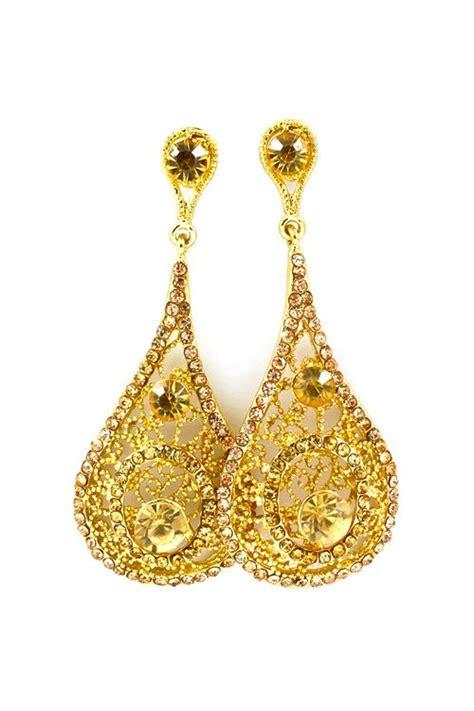 Belleza De Bali Earrings pretty golden drops my style accesorios