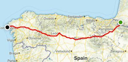 map of camino de santiago camino de santiago frances nouvelle aquitaine