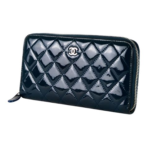 New My Chanel Wallet Chanel Luxury Sadira Wallet Fm Chanel Blue Quilted Patent Leather S Wallet