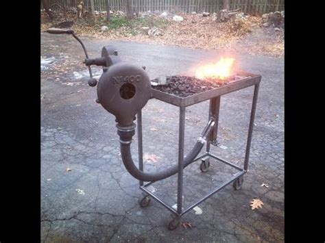home made coal forge
