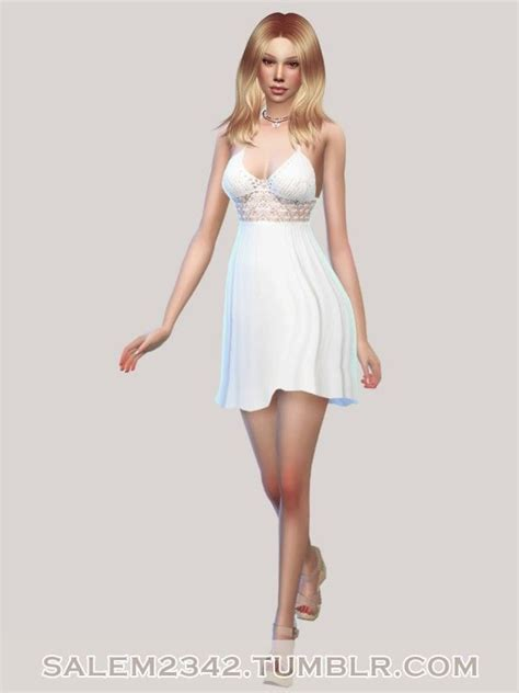 Maddie Bandeau Dress White S 1000 images about sims 4 on the sims sims