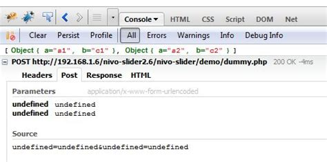 firebug console log how to create javascript array contain key and value