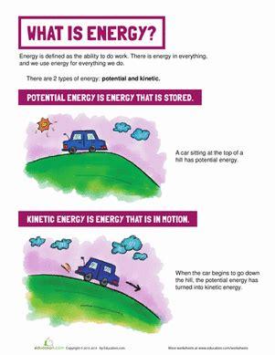 definition of energy worksheet education com
