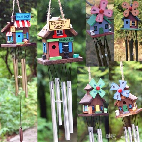 Handmade Wind Chimes For Your Home - handmade wooden chalets cabin wind chimes fashion copper