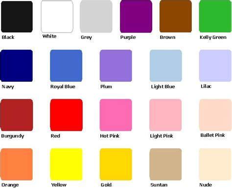 The Colors by Colors Color Swatches For Weddings