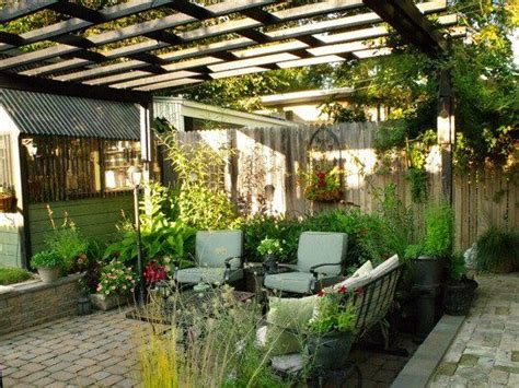 cool patios randolph s sunken patio with pergola small cool