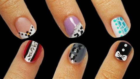 6 Nail Art Tutorial Facili Unghie Corte | 6 nail art tutorial facili unghie corte youtube