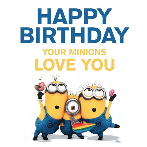 Printable Birthday Cards Minions | happy birthday cards for free minions holidays and