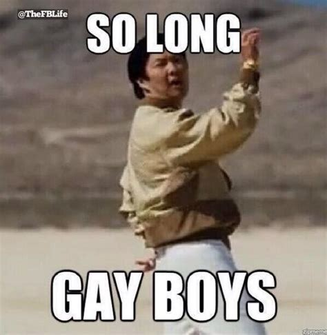 Funny Gay Meme - mr chow so long gay boy meme
