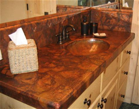 custom copper vanity