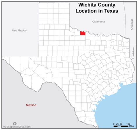 wichita texas map free and open source location map of wichita county texas mapsopensource