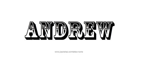 andrew tattoo andrew name designs
