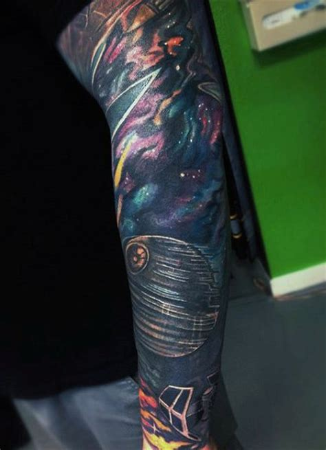 outer space tattoo 70 outer space tattoos for galaxy and constellations