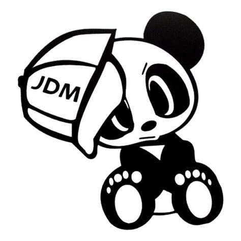 jdm panda jdm panda die cut vinyl decal pv732