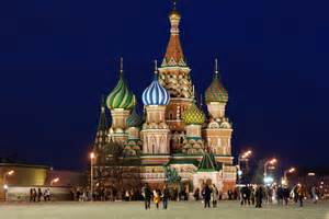 moscow red square saint basil s cathedral night russia