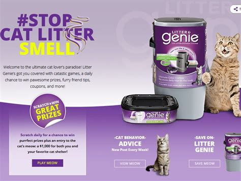 Instant Win Game Sweepstakes Official Rules - litter genie cat scratch instant win game and sweepstakes
