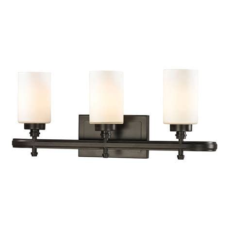 Elk Bathroom Lighting Elk 11672 3 Dawson Rubbed Bronze 3 Light Bathroom Vanity Lighting Elk 11672 3