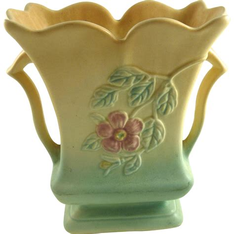 hull pottery dogwood vase from ornaments on ruby