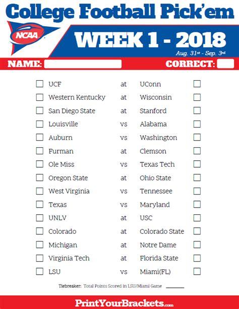 printable nfl schedule week 13 2017 week football pick em pool weekly printable sheet
