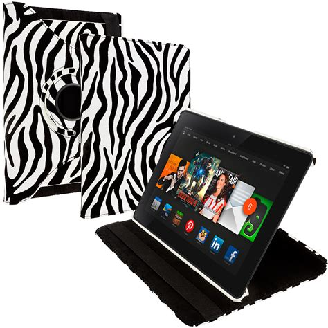 Rotate 360 Leather For 97 black white zebra 360 rotating cover for