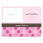avery 5315 note cards template templates pink dots birth announcement note card 2 per