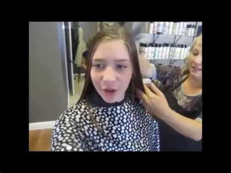 lilias first haircut youtube my first haircut youtube