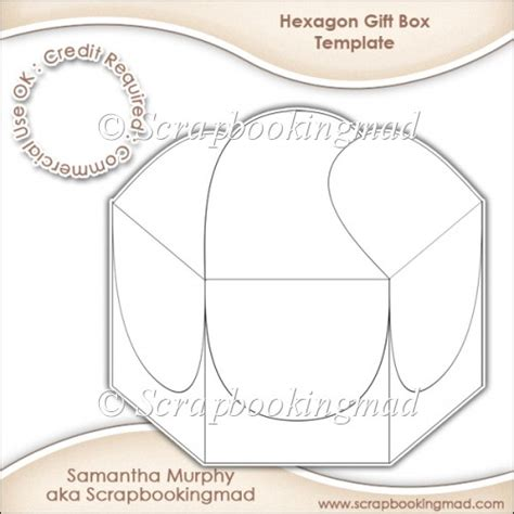 hexgonal card template hexagon gift box template cu ok 163 3 50 commercial use