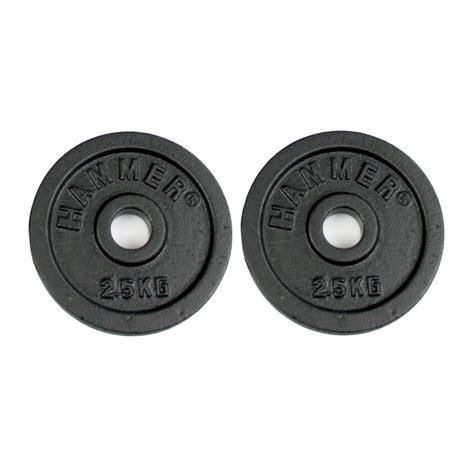 Barbell 5 Kg buy hammer barbell plates 2x 2 5 kg black