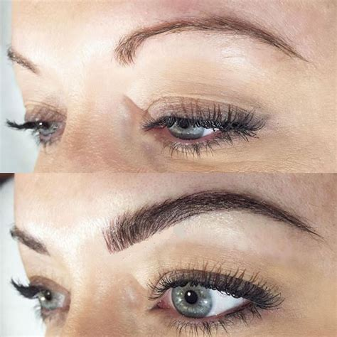 fuller natural brows with microblading