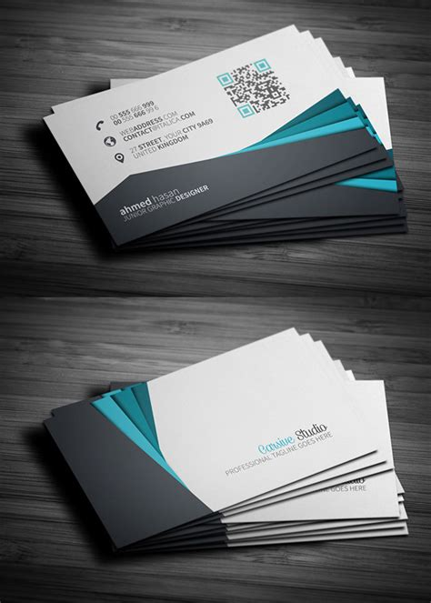 business card template creative free business cards psd templates mockups freebies
